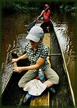 Canoe excursion in the Orinoco delta